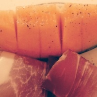 Melon with prosciutto ham