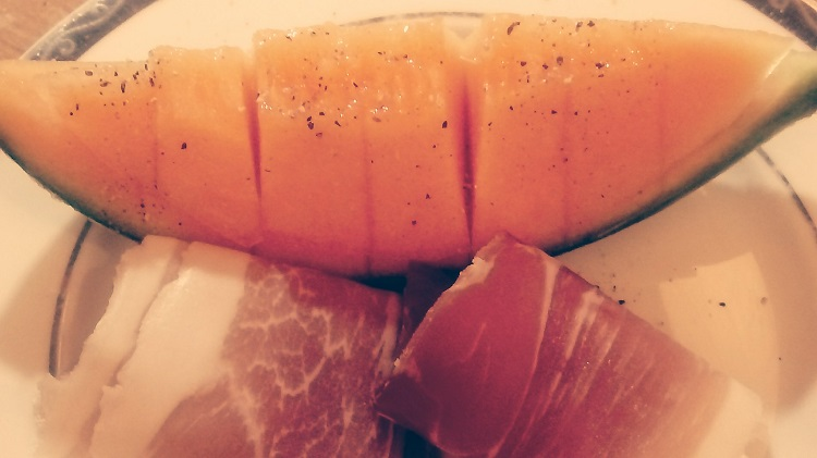 James Bond food melon ham