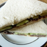 Anchovy paste sandwich