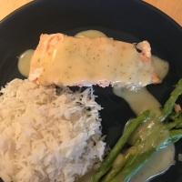 Salmon with lemon sauce (or James Bond in Disneyland)