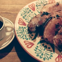 Virginia ham with red-eye gravy