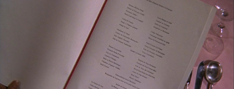 James Bond food Thunderball menu