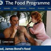 James Bond food on air