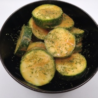 Steamed courgettes (zucchini)